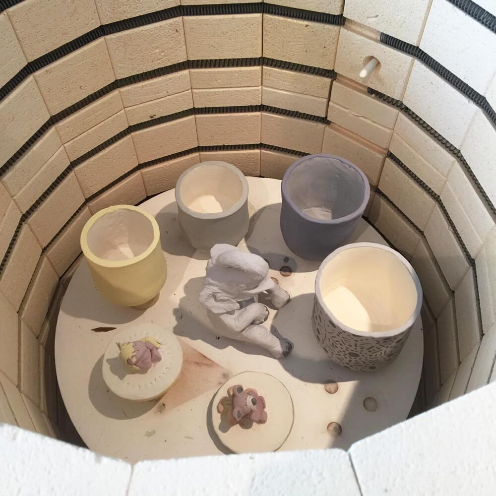 Keramik im Ofen