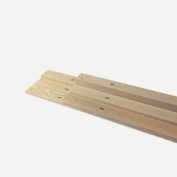 Teighölzer im Set 3 mm, 5 mm, 10 mm