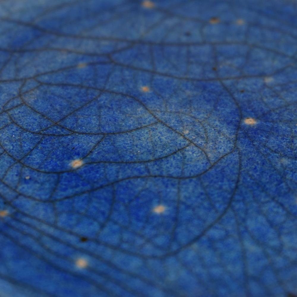 Rakuglasur indischblau